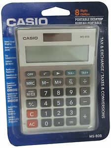 Casio MS-80B Standard Function Desktop Calculator with Large 8 Digit Display