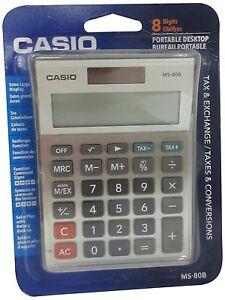 Casio MS-80B Basic Standard Function Desktop Calculator with 8 Digital Display