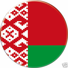5 x sticker 5cm auto moto velo valise pc portable drapeau Rond Biélorussie