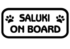 Saluki On Board Car, Van sticker, decal paw print