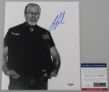 SONS OF ANARCHY RON PERLMAN  Hand Signed 8'x10' Photo + PSA COA *BUY GENUINE*
