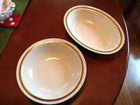 Vintage Mountain Wood Collection Japan Stoneware Serving Bowls-(2)