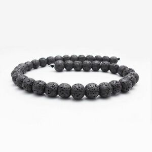 Natural Lava Volcanic Rock Stone Spacer Beads Round 6mm 8mm 10mm 12mm 14mm DIY