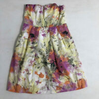 J CREW Womens Dress Sz 8 Strapless Sleeveless Summer Party Holiday Lined Cotton