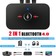 Wireless Bluetooth Audio Transmitter&Receiver 3.5MM RCA Music HIFI Adapter 2 in1