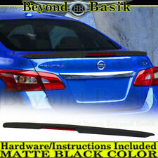 For 2013-2018 Nissan Sentra MATTE BLACK Factory Lip Style Spoiler Wing w/LED