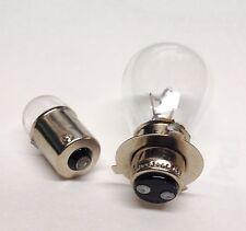 Headlight Bulb 12v 45w/45w & Tail lamp for Honda w/Single Filament Metal Base