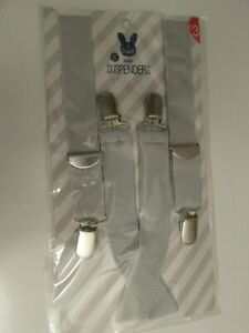Childs Easter Suspenders Gray Kids Suspenders New Easter Accessory
