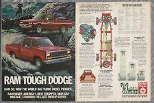 1983 DODGE RAM Pickup 2-page advertisement, Dodge ad, Ram 50 & Miser pickups