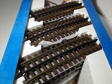 O-SCALE ATLAS #6063 072 HALF CURVED TRACK WITH SIMULATED WOOD TIES 3 RAIL 24 PCS