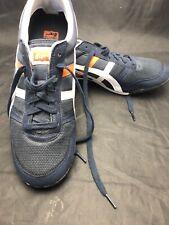 ASICS Onitsuka Tiger Men's Size 12 Navy Blue Orange Athletic Sneakers HN201 EUC