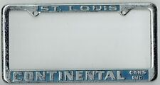 St. Louis Missouri Continental Cars Volkswagen VW MG Vintage License Plate Frame