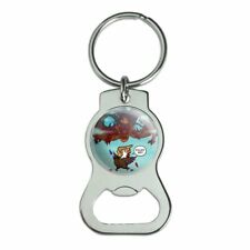 Trump Trade War with China Red Dragon Eagle Chicken Bottle Cap Opener Keychain