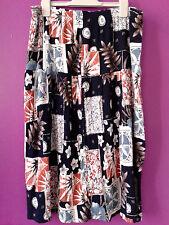 Jupe skirt vintage d étè légére imprimé bleu  taille 46/48