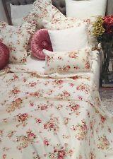 Shabby Chic Throw Bedspread Sofa Cover Table Cloth Lace Edge 270x187cm Cotton