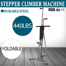 Vertical Climber Machine Exercise Stepper Maxi Fitness Gym Monitor Manual Sealed