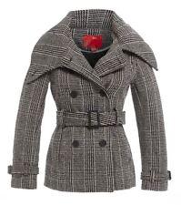 NEW WOMENS COAT SIZE 12 JACKET 8 10 14 LADIES CHECK Black White Coats