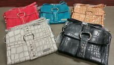 Huge Savings!! 10 Piece Lot of small Crossbody Handbag-Pouchee's Safari in Croco