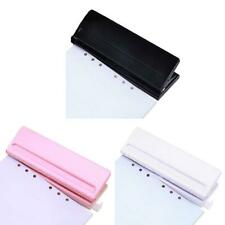 6 Hole Puncher Loose-Leaf Standard Paper Adjustable Office Binding Supplies Tool