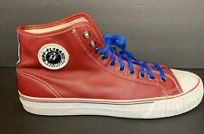 Unisex PF Flyers Posture Foundation Shoes Canvas High Top Sneakers Red Sz 11.5
