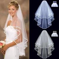 GIRL Love Veil Wedding women Pure color nets yarn Bride Beautiful Bride lace