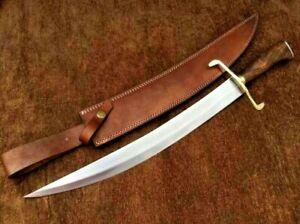 "Hand Forged Carbon Steel  SWORD 21"" Handmade Arabic Sword W/ Natural Wood Handle"