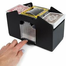 NEW AUTOMATIC 4 CARDS SHUFFLER SORTER CASINO PLAYING POKER ONE OR FOUR DECK UK