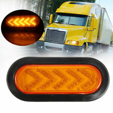 """6"""" Oval Yellow 35 LED Lamp Amber Stop Tail Arrow Turn Signal Light Truck Trailer"""