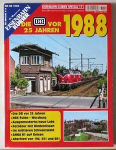 """EK Eisenbahn-Kurier Special 111 """"Die DB vor 25 Jahren"""" - 1988"""