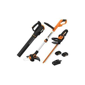 WORX WG933 20V - 3PC Combo Kit (Blower, Trimmer, and Hedge Trimmer)