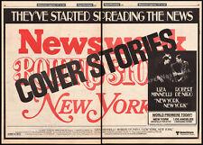NEW YORK, NEW YORK__Original 1977 World Premiere Trade AD / poster_LIZA MINNELLI