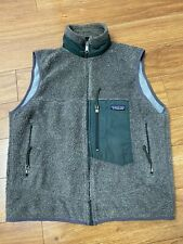 Mens Vintage 90s Patagonia USA Classic Retro X Deep Pile Fleece Sherpa Vest Sz M