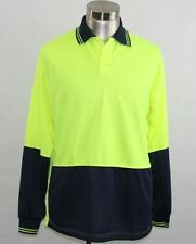 3904 DNC HiVis Workwear Long Sleeve Polo - Size (L) Large