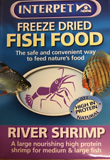INTERPET FREEZE DRIED RIVER SHRIMP FOR TROPICAL MARINE COLDWATER AND TURTLES 5GS