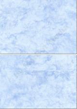 Marmorkuverts DIN C6 100 Kuverts blau