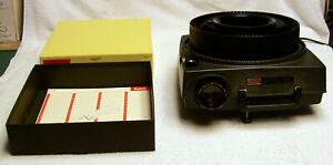 Kodak Carousel projector 600 in original box with an 80 slide tray