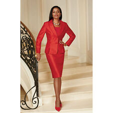 Especially Yours EY Signature Formal Church Skirt Suit Wedding Cocktail 16 RED