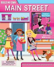 Build Own Main Street 3 Figures Book Models Stickers 168 Bricks 6+ Yrs New