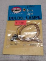 Vintage HO scale PARTS Model Power 397 Brite Light  3 volts NOS
