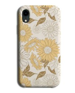 Vintage Sunflower Pattern Phone Case Cover Sunflowers Flower Print Floral M811