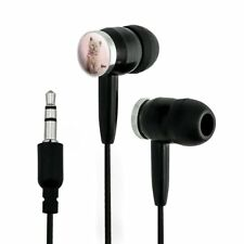 Miradoll Ragdoll Cat Kitten Pink Ribbon Bow Novelty In-Ear Earbud Headphones