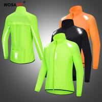 Giacca da ciclismo antivento impermeabile riflettente MTB cappotto bici maglie