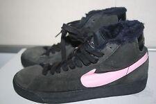 Big Girls Nike Blazer Boots, Suede, Black/Pink, Size: 6.5 Y US