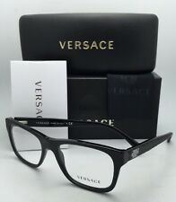 New VERSACE Rx-able Eyeglasses 3199 GB1 53-17 Black Frame w/ Clear Demo Lenses