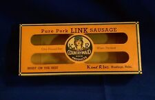 Vintage K&R Countrymaid Pure Pork Link Sausage box