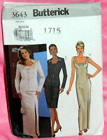 Uncut Butterick Sz 20-24 Princess Seam Jacket Formal Evening Dress Pattern 3643