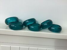 More details for vintage blue glass napkin rings x 6 tablescaping interiors