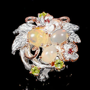 Handmade Fine Art Opal Ring Silver 925 Sterling  Size 7.5 /R178163