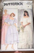 Butterick sewing pattern no. 3137  Wedding dress & Bridesmaids size 8