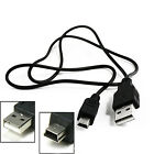 Black USB2.0 A to Mini B 5Pin Male Data Charger Sync Cable Cord For MP3/4 Camera
